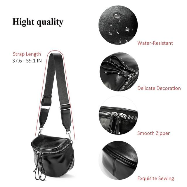 Women's Travel Messenger Bag PU Leather Metallic Silver