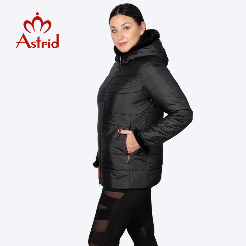 hotsale Winter jacket female coat short hooded plus size warm Cuffs Hairy women jacket mane clothes