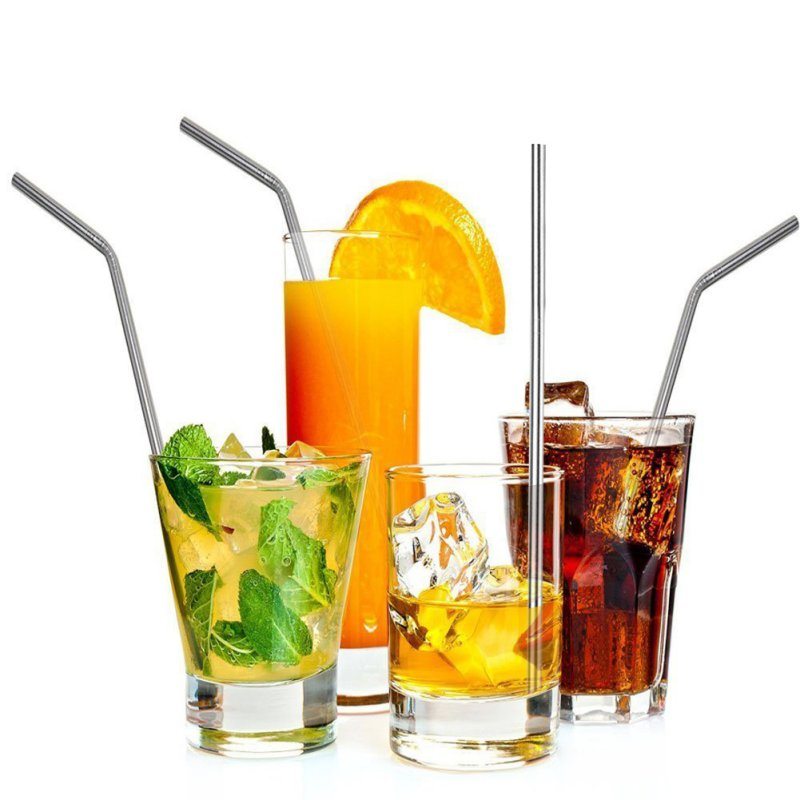 Stainless Steel Straws Reusable Metal Drinking Straws Fits 30 <font><b>20</b></font> <font><b>Oz</b></font> <font><b>Yeti</b></font> <font><b>Tumbler</b></font> <font><b>Rambler</b></font> <font><b>Cups</b></font>