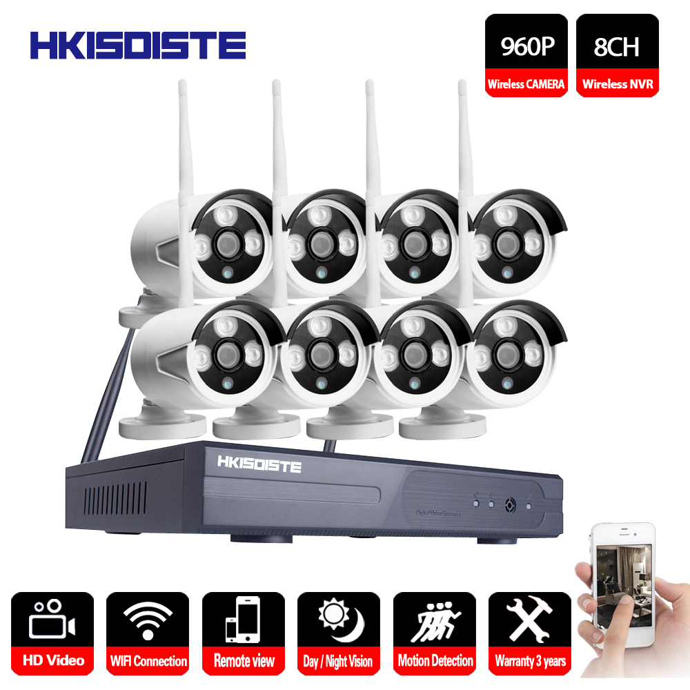 1080P Wireless CCTV System 1.3MP 8ch HD wi fi NVR kit Outdoor IR Night Vision IP Wifi Camera Security System Surveillance Home Surveillance System Security & Protection - title=