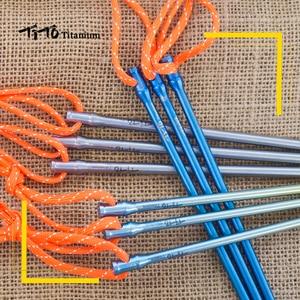 Image 5 - 6 sztuk TiTo stopu tytanu śledź namiotowy tytanu spike odkryty Camping akcesoria namiot stawka średnica 5.0mm/6.0mm namiot akcesoria paznokci