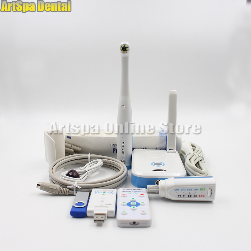 Wifi dental endoscope U Disk Storage And Wireless CCD Dental Intraoral Camera 2.0 Mega Pixels MD-2000W image shooting Artspa new arrival dental intraoral camera can page up down and delete wifi transfero computer save picture into u disk