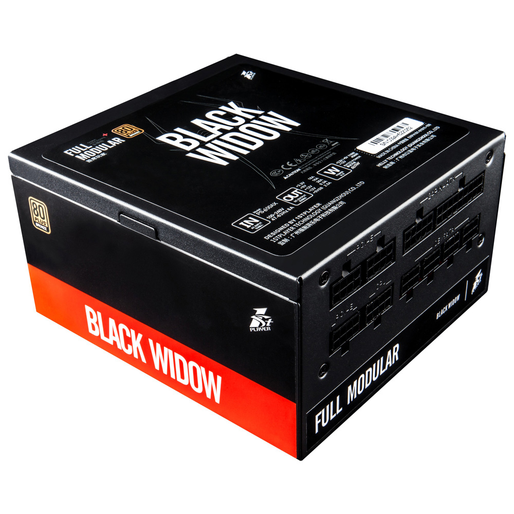 цена на 1STPLAYER Black Widow 600W 80PLUS Bronze PSU Computer Power Supply Full Range Input Full Modular EU Plug