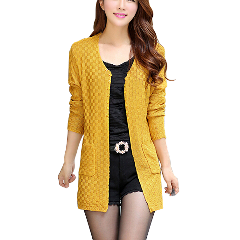 Popular Yellow Sweater Cardigan-Buy Cheap Yellow Sweater Cardigan ...