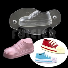 3D Children running shoe shape plastic chocolate mold,polycarbonate chocolate mould cake decoration candy baking&pastry tools