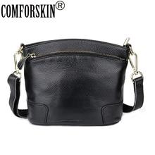 COMFORSKIN Guaranteed Luxurious Leather Ladies Messenger Bags 2018 Fashion Bucket Style Handbags High Quality Bolsas Feminina