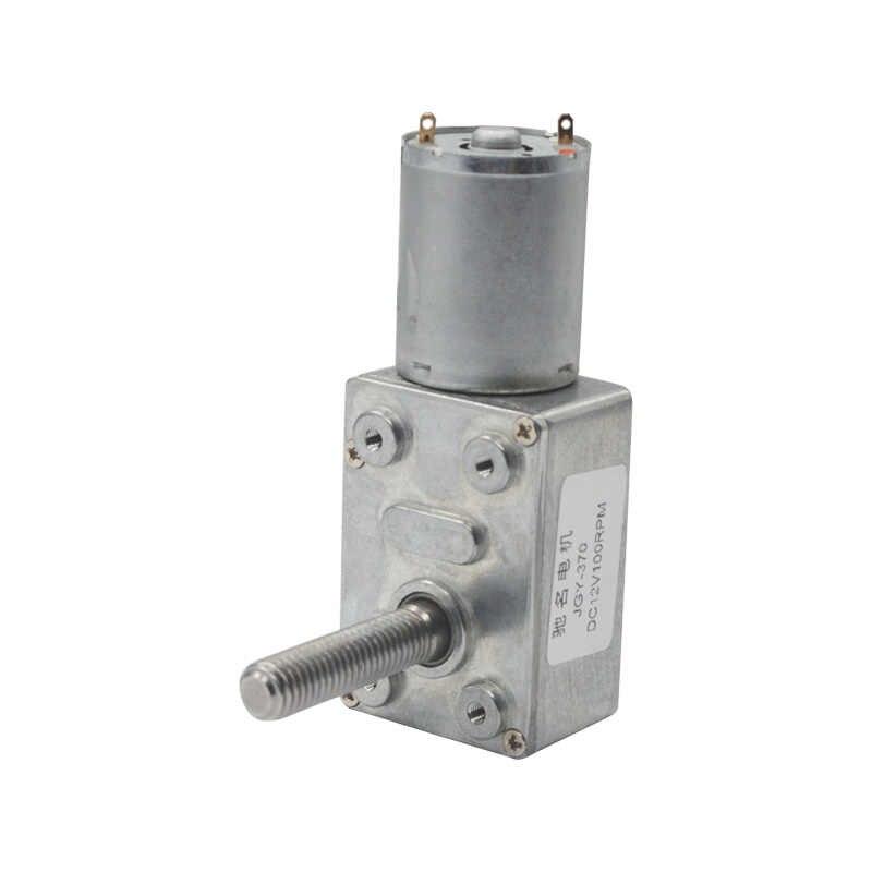 Wał śrubowy motoreduktor DC6V/12V24V 6 obr/min do 150 obr/min wysoki moment obrotowy o średnicy 8mm śruby gwintowane wału siebie -lock robak motoreduktor