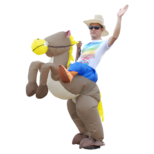 Adult Cosplay Costume Kids Inflatable Dinosaur Unicorn Cowboy Halloween Costumes For Women Wen Fantasia Party Jumpsuit 4