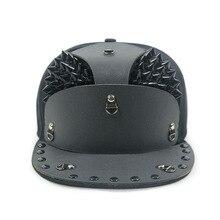 GBCNYIER панцири плоские поля бейсбольная кепка Высокое качество шляпа воина модные заклепки хип хоп козырек хипстер уличные крутые шляпы