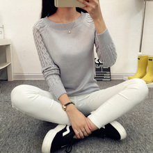 OHRYIYIE 2017 Autumn Winter Solid Knitted Sweaters And Pullovers Women Jumper Long Sleeve Pullover Female Tricot Pull Femme Tops