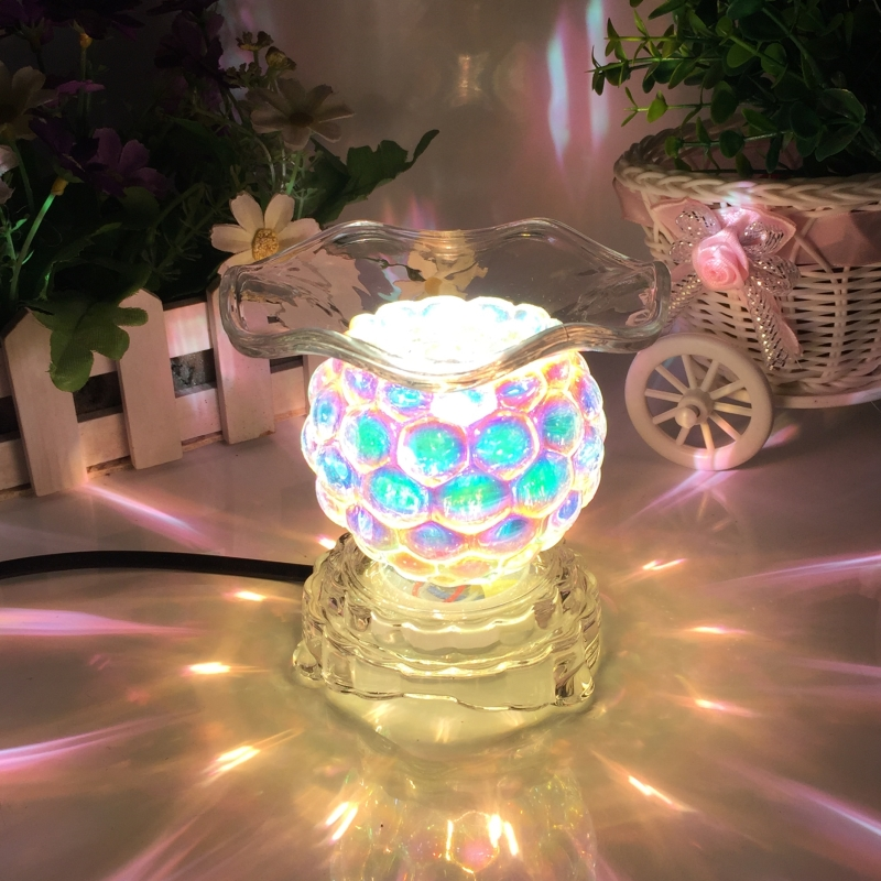 220V Creative Electric Plug Glass Aroma Lamps Office Desktop Modern Decoration Essential Oil Fragrance Burner Night Light Gifts 4