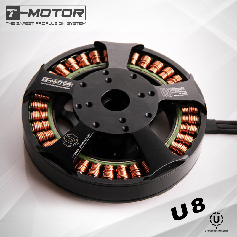 T-Motor Brushless Motor TM U-POWER U8 Multi-Axis Rotary Disc Bl Motor for Drone Efficiency Series new lang yu x4110s 340 400kv 460 680kv 580kv high efficiency multi axis disc motor