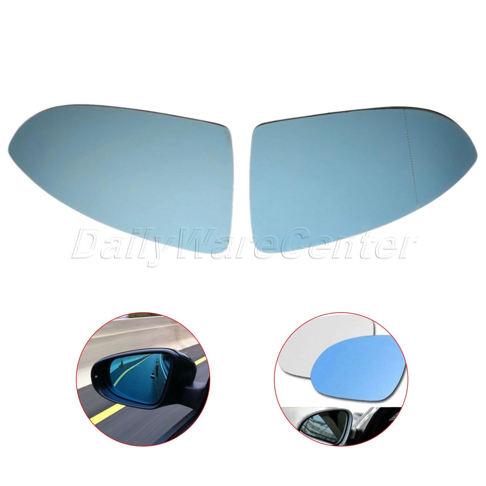 ペア用vwゴルフ2013 2016 mk7ドアサイドミラーガラス加熱された青左右サイドersatzglas spiegelglasバックミラー加熱ミラー  グループ上の 自動車 &バイク からの 鏡 & カバー の中 1