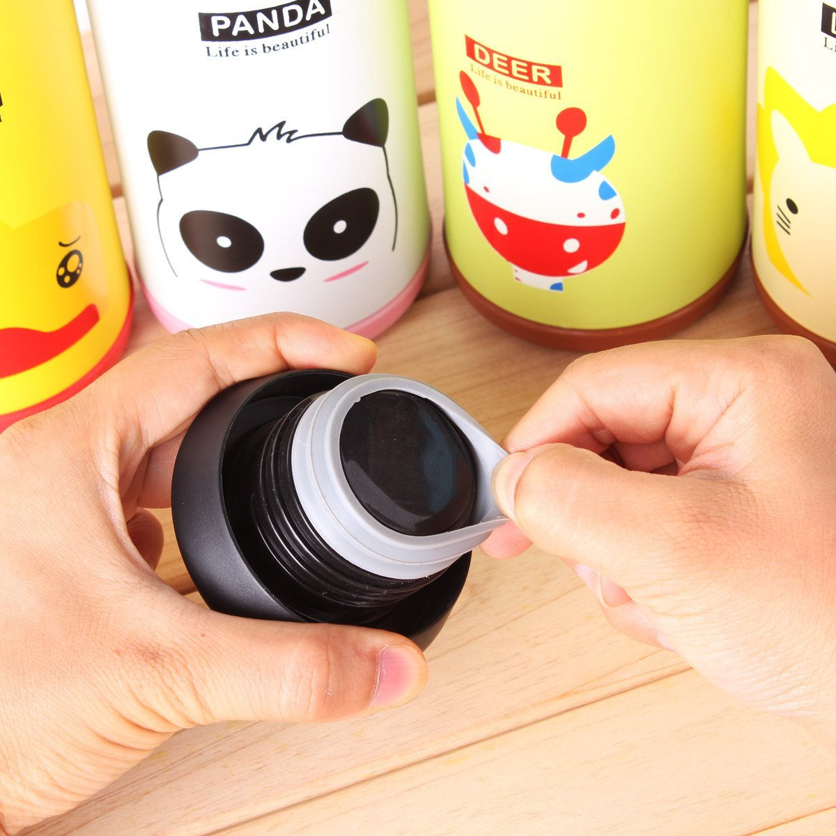 Thermos Cup - thermos - travel - mug - lid - instructions - thermos - flask - online - Stainless - Steel - Cartoon - Thermos - Cup - Bottle - Funny - Birthday - Gift