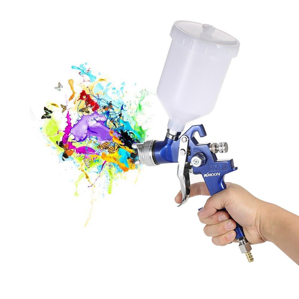 KKmoon Mini Air Gravity Feed Pistola Retocar Pintura Pulverizador Set Airbrush sandblaster Ferramenta de Pulverização de Pintura Do Carro Auto compressor