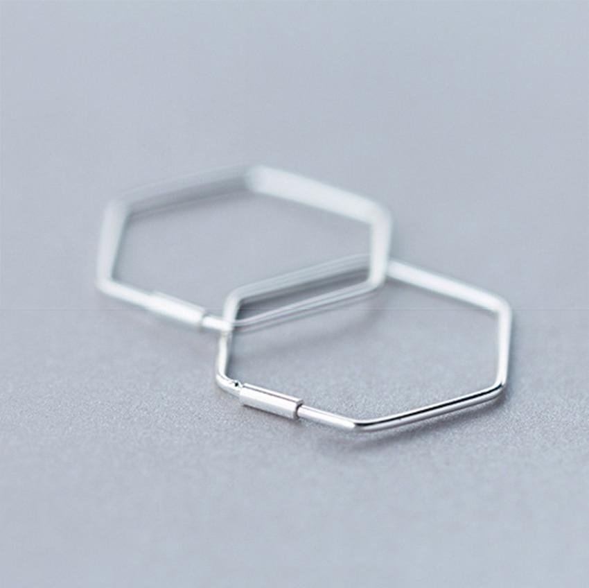 Kinitial Cut Out Hexagon Honeycomb Post Earring Open Line Hive Hexagon Geometric Bee Earrings for Women Statement Earring