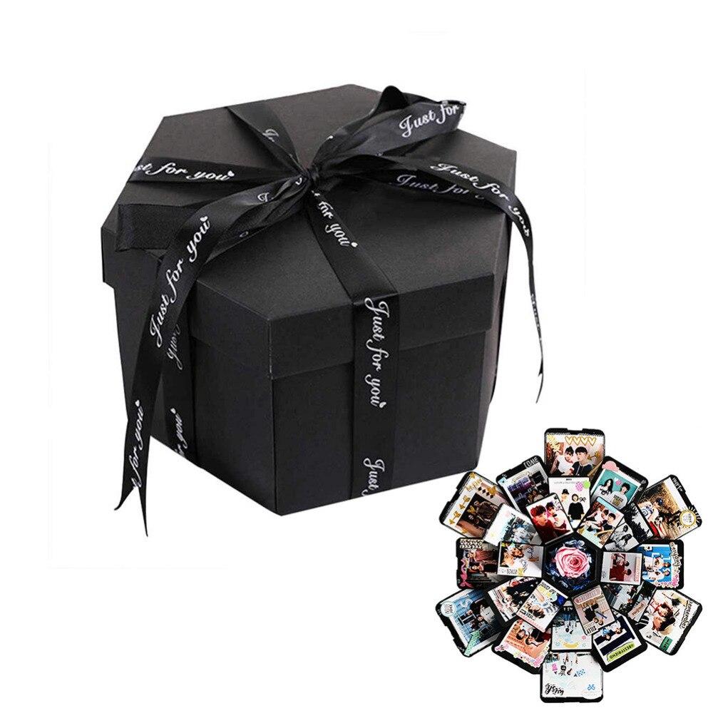 FAI DA TE Album di Foto di Esplosione di Stoccaggio Contenitore di Regalo Di Compleanno Regalo di san valentino Regalo Fatto A Mano con Accessori FAI DA TE Kit Boom di Regalo box