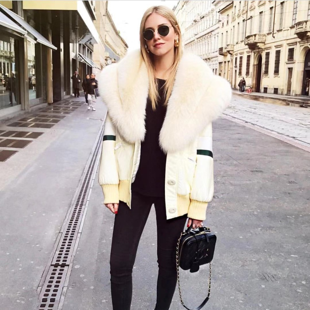 Winter down coat กับขนสุนัขจิ้งจอกจริงขนสัตว์สูง quilted ผู้หญิงลงเสื้อแจ็คเก็ต-ใน แจ็กเก็ตแบบเบสิก จาก เสื้อผ้าสตรี บน   1