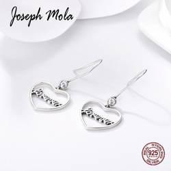 Joseph мола Лидер продаж 925 пробы Серебряный Модный любовь навсегда Висячие серьги для женщин вечерние знакомства подарок свадебные