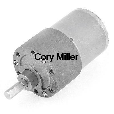 цена на 12VDC 80RPM Cylinder Shape Speed Reducer Electric Geared Motor