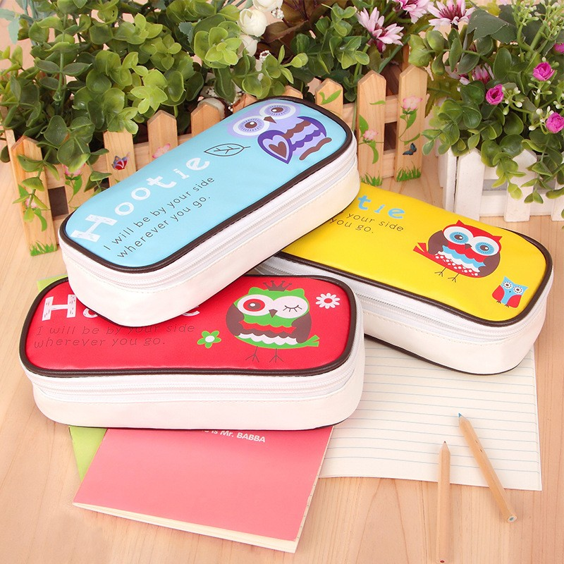 New boy girl cartoon pencil case bag kawaii School Pouches cute owl children student storagepen sack stationery kids gifts prize new cute beautiful world canvas pencil case kawaii kids girl pencil bag pen bag pouch student school supplies stationery gifts