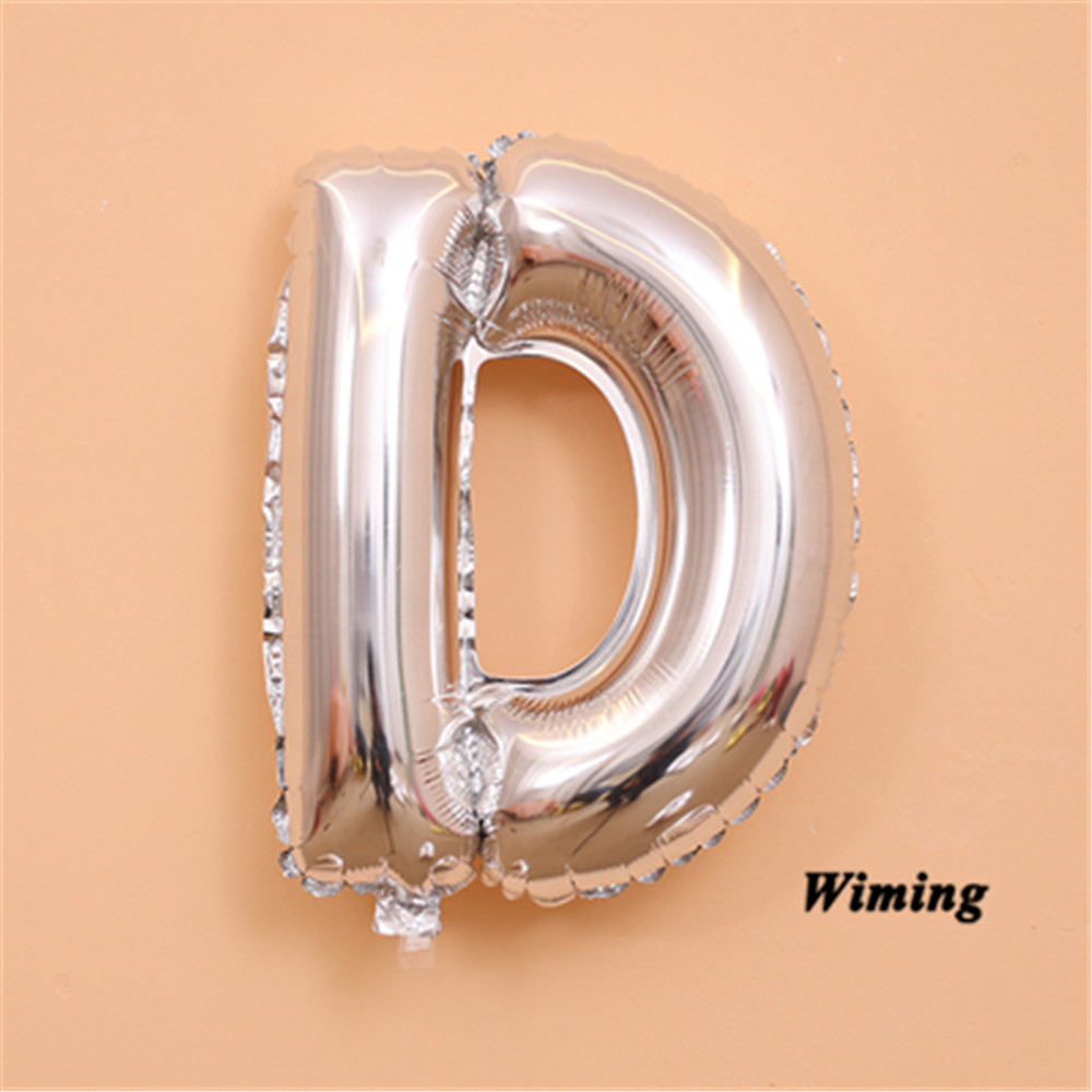 16 inch letter shaped balloons event festive party supplies wedding birthday decoration foil silver alphabet letter balloons in Ballons Accessories from Home Garden