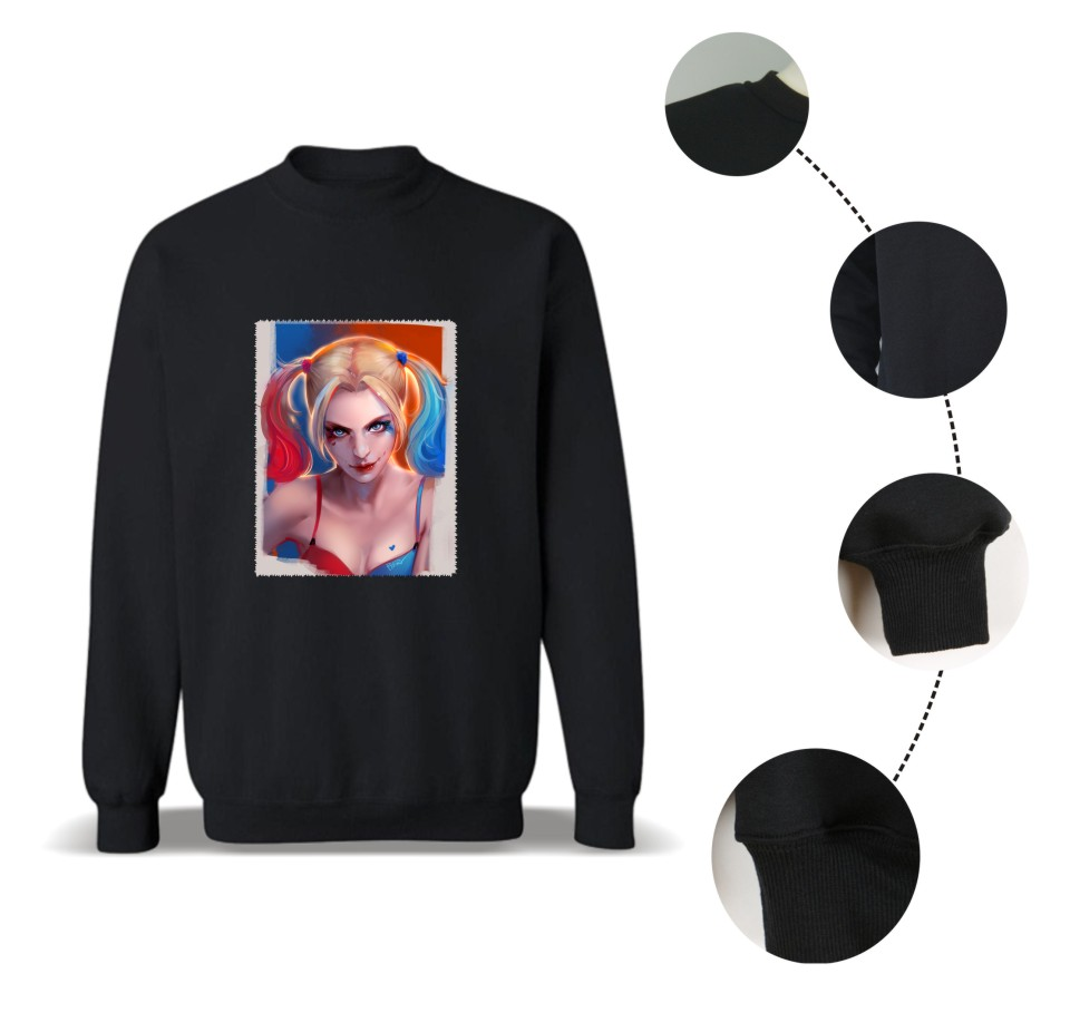 2017 hot sale suicide squad Sweatshirts men Harley Quinn joker hoodies and sweatshirts Mens Hoodie Hip Hop Pullover