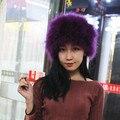 Бесплатный шопинг натуральный мех cap hat зима женщины hat натуральный мех