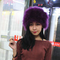 free shopping real fur  cap hat winter  women  hat   real fur