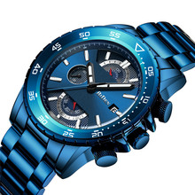 лучшая цена BIDEN Top Brand Men Watch Luxury Chronograph Strap Sport Male Relogio Masculino Business Quartz Wrist Watches Erkek Kol Saati