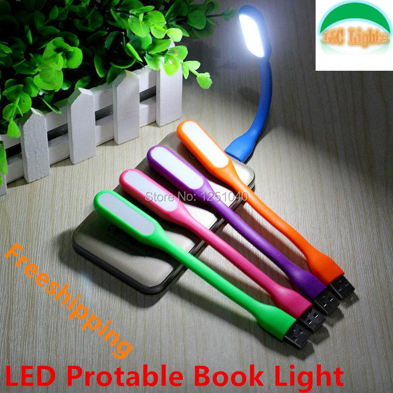 Free shipping 100% Original USB Light Flexible LED USB Book Lamp for Notebook Laptop Tablet PC USB Power Novel Reading Lighting