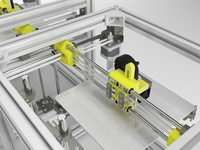 Large Size Hypercube 3D Printer Extrusion Metal Frame Annodized HyperCube 3D Printer/CNC DIY mechanical kit Print Bed 300X300MM