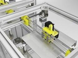 Wielkoformatowa drukarka 3D Hypercube wytłaczana metalowa rama anodowana HyperCube drukarka 3D/CNC DIY zestaw mechaniczny łóżko z nadrukiem 300X300MM
