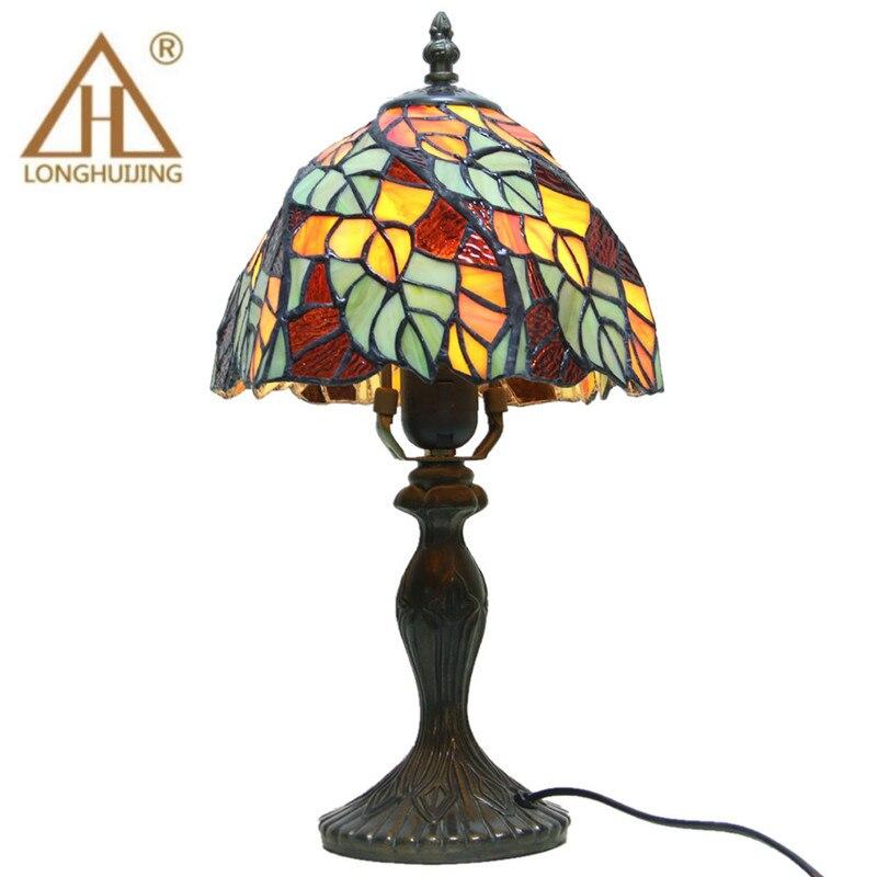 Lampe de Table Tiffany E27 Baroque chambre lampe de chevet mode créative rétro lampe de Table