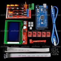 3D Printer Kit RAMPS 1 4 MEGA2560 5xA4988 LCD12864 Display Controller For RepRap Free Shipping Drop