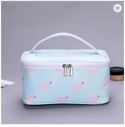 Opknoping Grote Polyester Canvas Pu Leer Custom Reizen Toilettas Make-Up Cosmetische Zakken