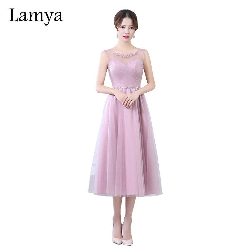 LAMYA Chiffion   Bridesmaid     Dresses   2019 Formal Plus Size Lace   Dress   Vestidos De Novia 5 Color