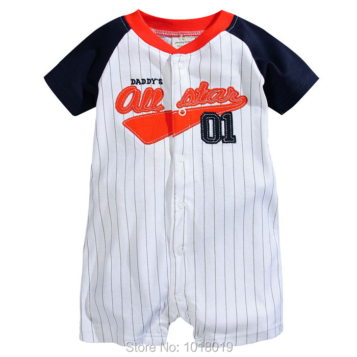 Branded Quality 100% Cotton Ropa Bebe Summer Newborn Baby Boys Clothing Clothes Creeper Jumpsuits Short Sleeve Rompers Baby Boys 100% cotton ropa bebe baby girl rompers newborn 2017 new baby boys clothing summer short sleeve baby boys jumpsuits dq2901
