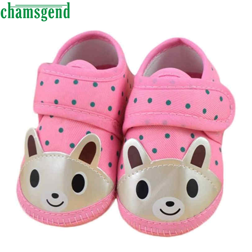 CHAMSGEND cute hot Cute Animal Newborn Girl Boy Soft Sole Crib Toddler Shoes Canvas Sneaker w/ Elastic Band Jan7 S30 st4