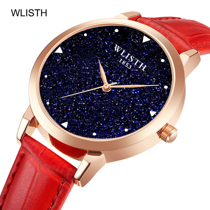 Luxury Starry Sky Women Watches Fashion Ladies Dress Wrist Watches Leather Style Waterproof Clock Female relogio Feminino 2018 2
