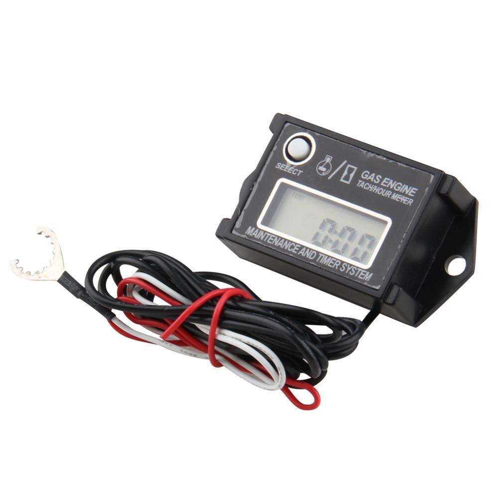 Hour Meter Digital Tachometer Adjustable Resettable Job Timer for Gas Engine