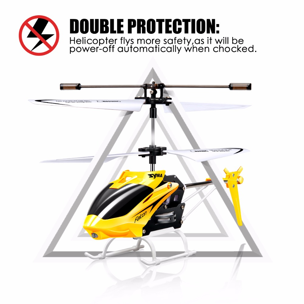 Image 5 - SYMA W25 RC Helicopter Aircraft 2CH Shatterproof Remote Control Copter Helicopter Built Gyro Radio Mini Drones Indoor Kid Funny-in RC Helicopters from Toys & Hobbies