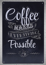 1 pc Coffee Cappuccino Americano Espresso doppio Java Lattee Tin Plate Sign plaques Man cave vintage Shop store metal poster