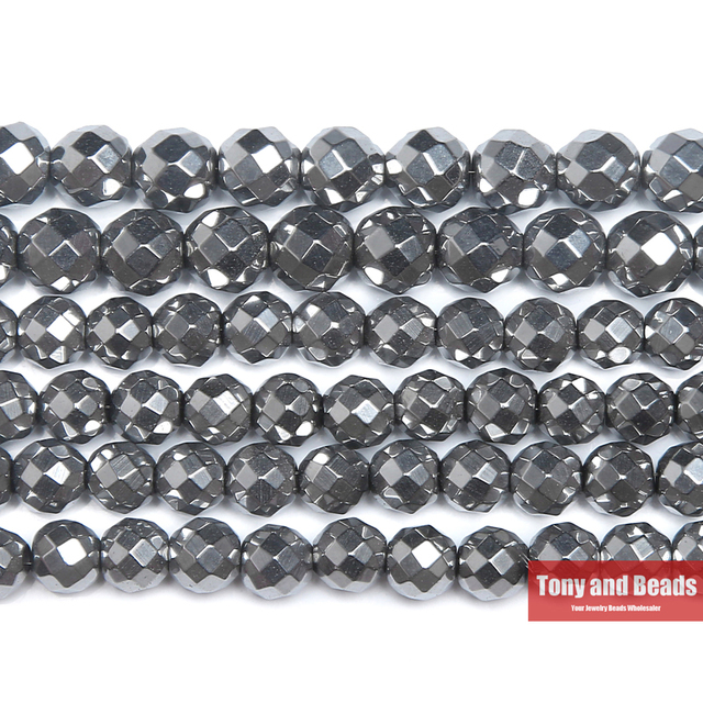 Free Shipping Natural Stone Faceted Dull Silver Plated Hematite Shamballa Beads