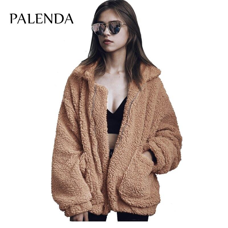 Тедди пальто из искусственного меха Топ Куртки теплые и толстые