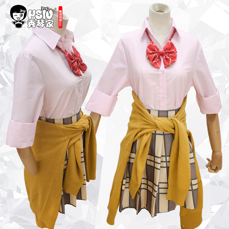 Image 4 - HSIU High Quality Citrus Anime Aihara Yuzu Aihara Mei Cosplay Costumes Wig Set Short skirt Japanese style student wear    -