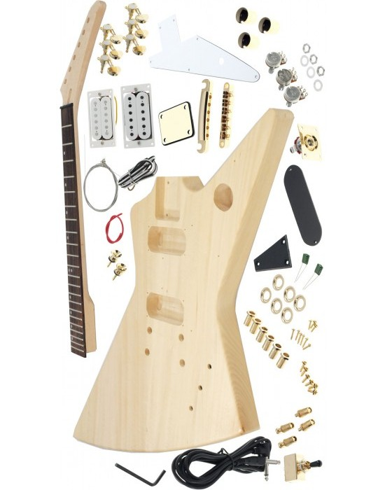 цены  Explorer  electric guitar kits /Diy guitar basswood  body  including all the parts