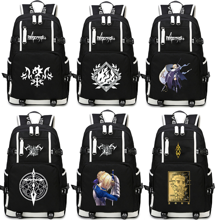 Anime fate grand order Backpack Cosplay Jeanne d'Arc Alter Gilgamesh Canvas Bag Schoolbag Travel Bags цена