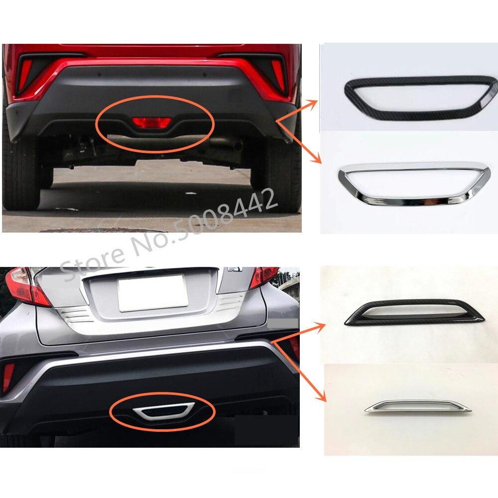 Chrome cover trim back tail rear Brake skid light lamp 1pcs for Toyota C-HR CHR