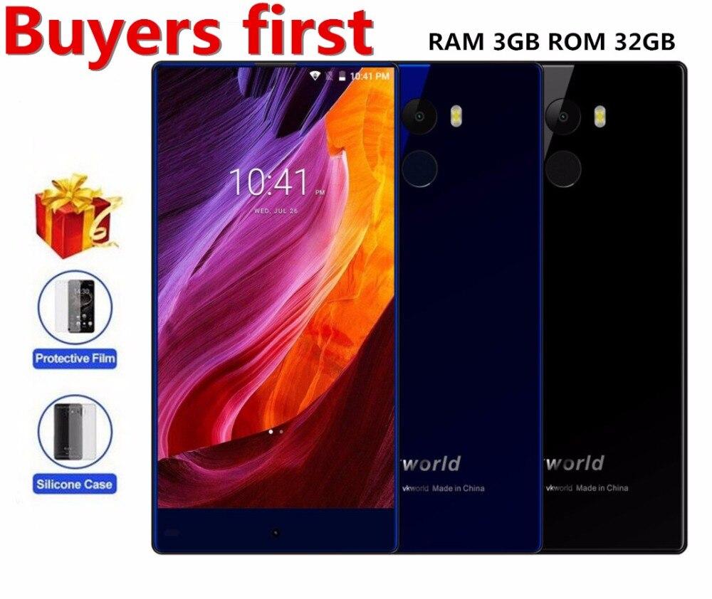 Vkworld Mix Plus 4 г mtk6737 4 ядра android 7.0 мобильный телефон 3 ГБ Оперативная память 32 ГБ Встроенная память отпечатков пальцев ID 5.5″ HD по вызову 13MP смартфо…